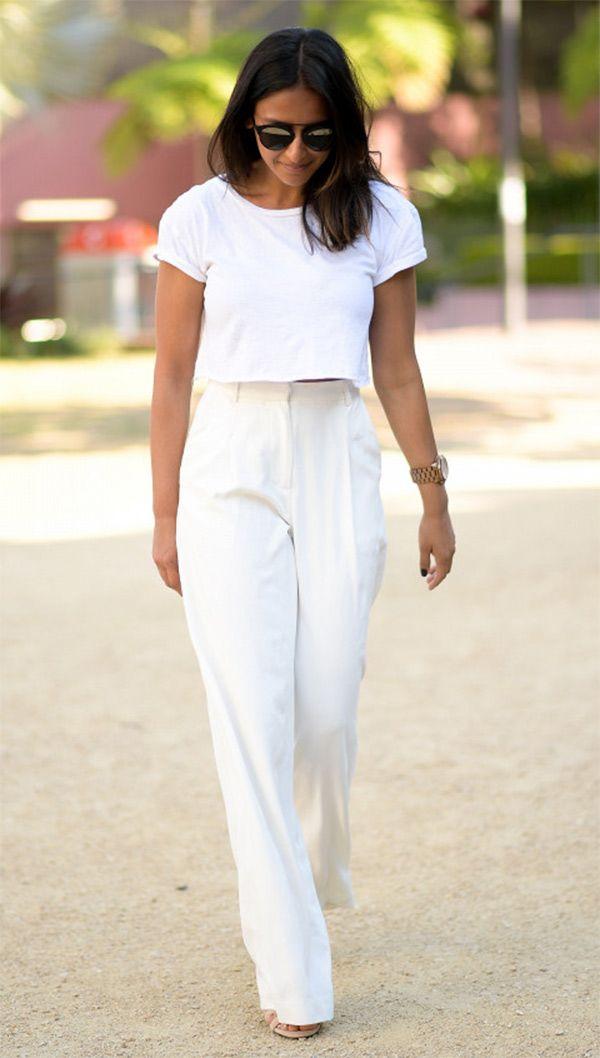 7 maneiras de usar calça pantalona no verão | Looks, Moda e