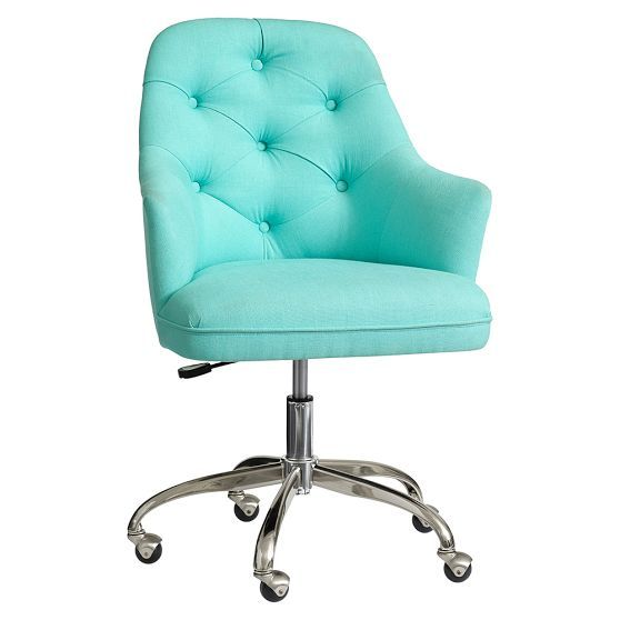 Twill Tufted Swivel Desk Chair In 2020 Tufted Desk Chair Desk Chair Upholstered Office Chair