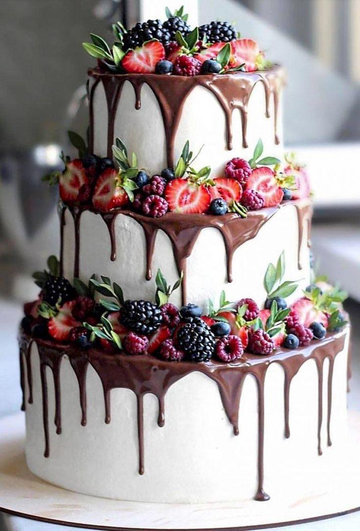 tropfen Hochzeitstorten tropfen Schokolade und Früchte nyuta zelenskaja   - Torten - #Früchte #Hochzeitstorten #nyuta #Schokolade #Torten #Tropfen #und #zelenskaja #wedding