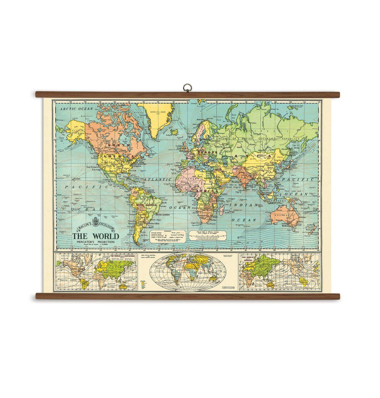Amazon cavallini papers world map vintage school chart amazon cavallini papers world map vintage school chart cavallini co home kitchen gumiabroncs Gallery
