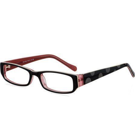 Victorious Womens Prescription Glasses, V413 Black   Walmart, Glass ...