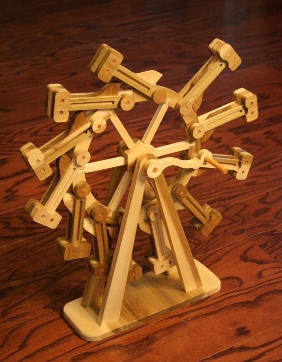 Wooden Perpetual Motion Machine Kinetics Automatas And