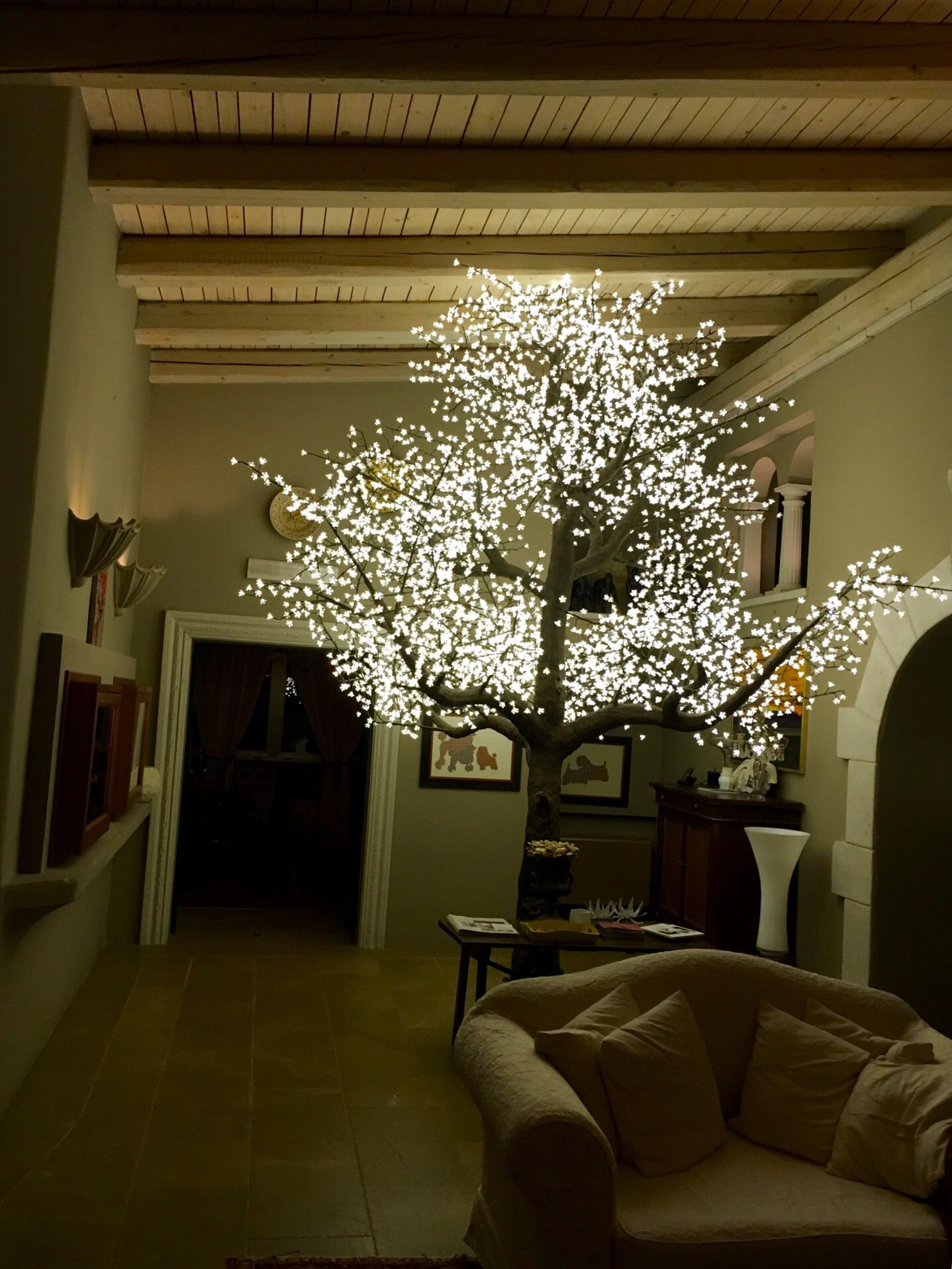 Led Tree Interior Design Furniture Ceiling Design Living Room Lighting
