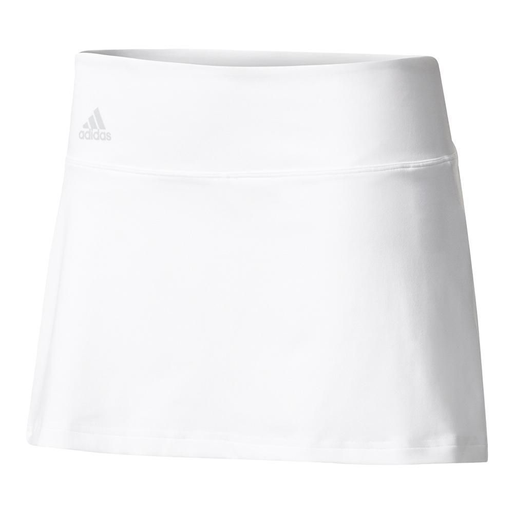 Adidas Women S Advantage 11 Inch Tennis Skirt White Bj8771reg F18 In 2020 Tennis Skirt Adidas Women White Skirts