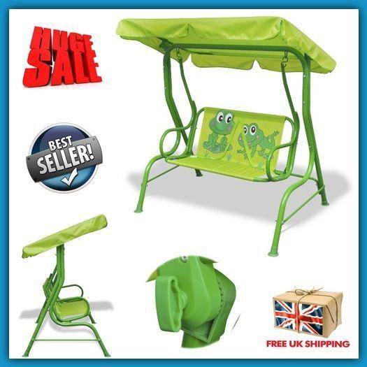 kids swing seat garden outdoor chair