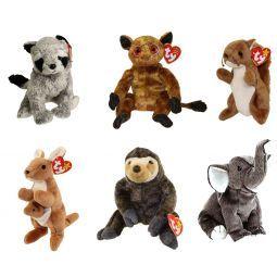 b3b5591c07e TY Beanie Babies - WILD ANIMALS  3 (Set of 6)(Bandito