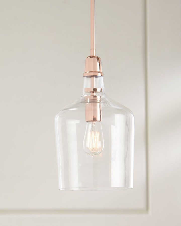 Copper/ rose gold and Glass Pendant | cocina | Pinterest | Cobre ...