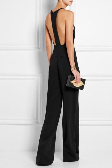 e756339e0f0 Narciso Rodriguez - black elegant jumpsuit with open back and single line  #summertime
