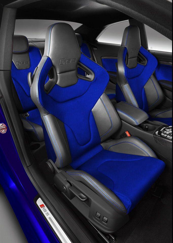 Black/Blue seats in a #WantAnRS5