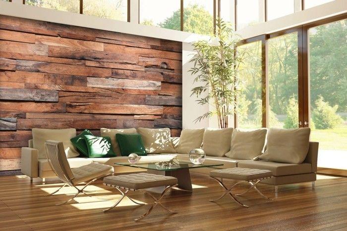 Holzwand Holzverkeidung Schlafzimmer Ideen Holz