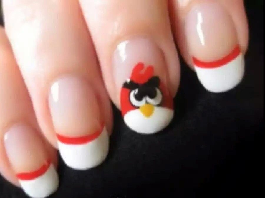 Angry bird for daycare kids | Handpainted nail art | Pinterest ...