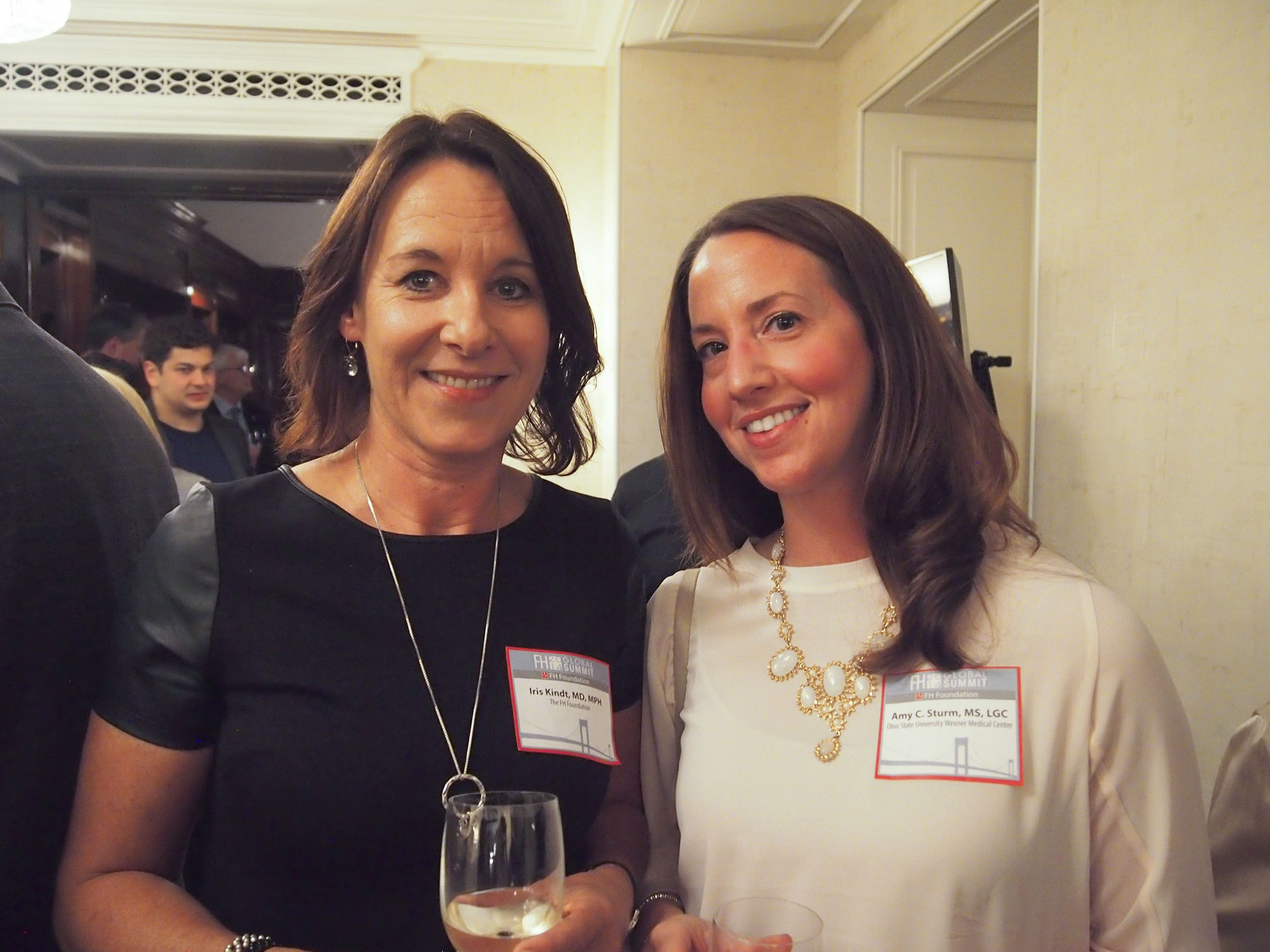 Iris Kindt Md Mph And Amy Sturm Ms Lgc At The 2014 Familial