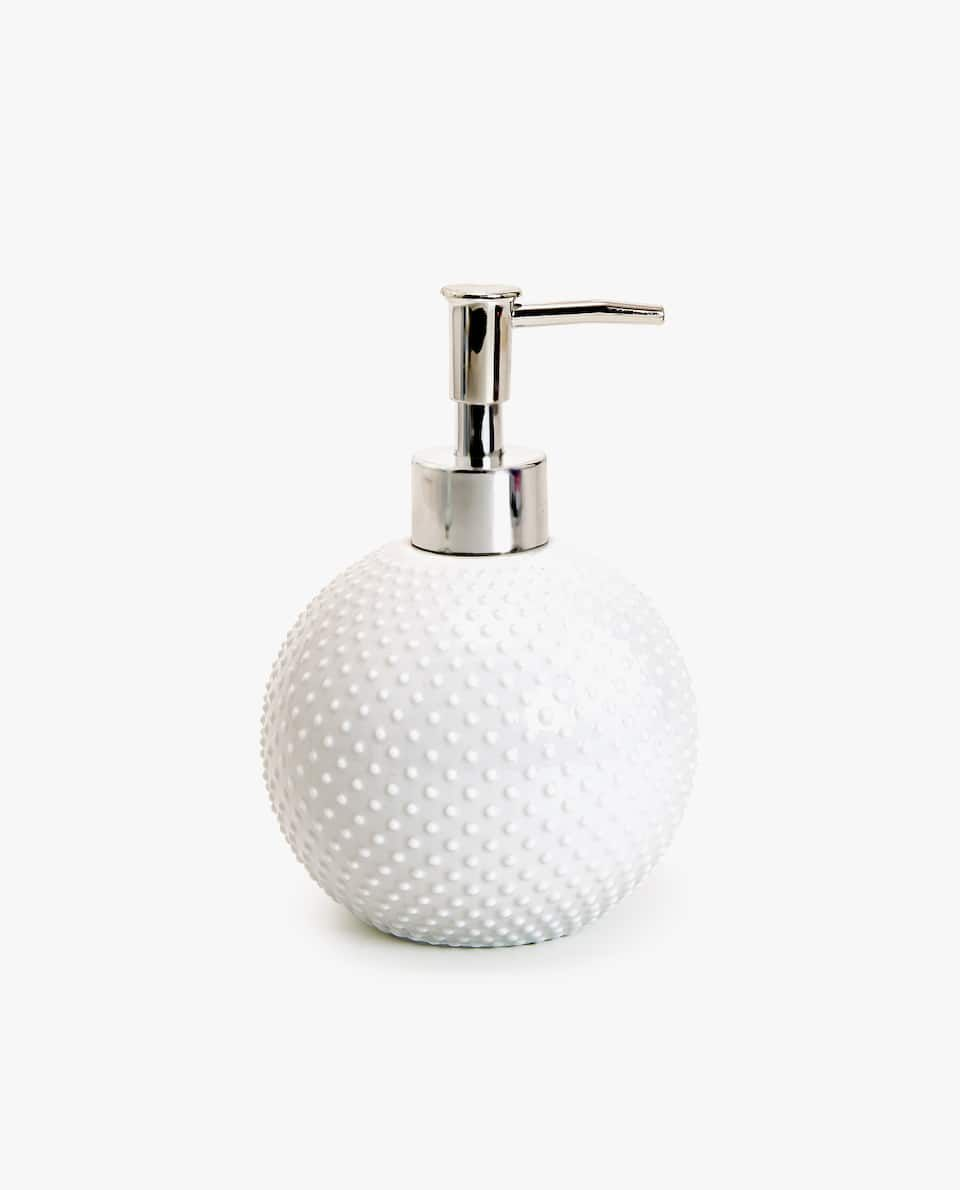 Dosificador Ceramica Puntos Accesorios De Bano Bano Zara