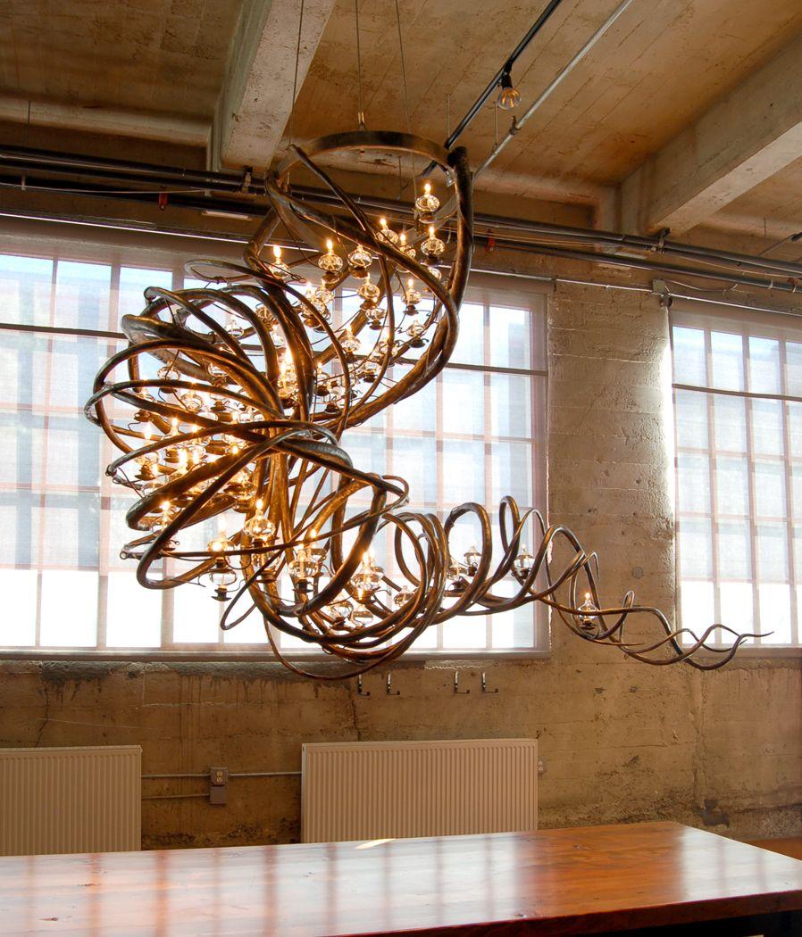 Blacksmith Forged Custom Design Daniel Hopper Iron Chandelier Wiring In Parallel Tornado By