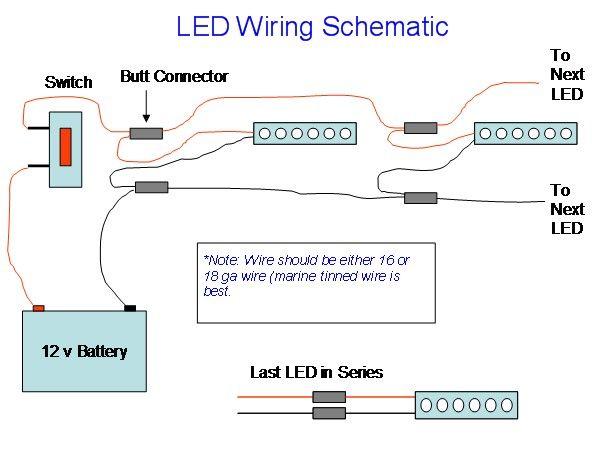 wiring diagram for led flood lights