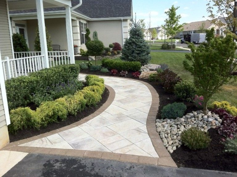 Discover Ideas About Front Sidewalk Charming For Landscape Yard