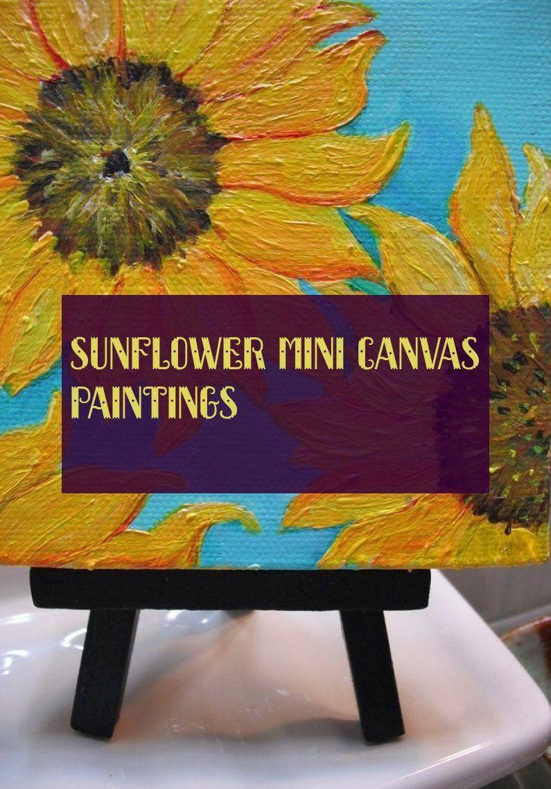 sunflower mini canvas paintings