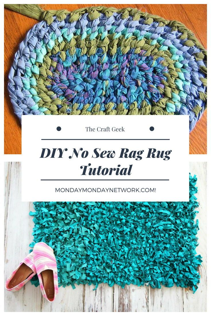 Diy No Sew Rag Rug Tutorial Crafts Everything Group Board Pinterest Hobby Craft And
