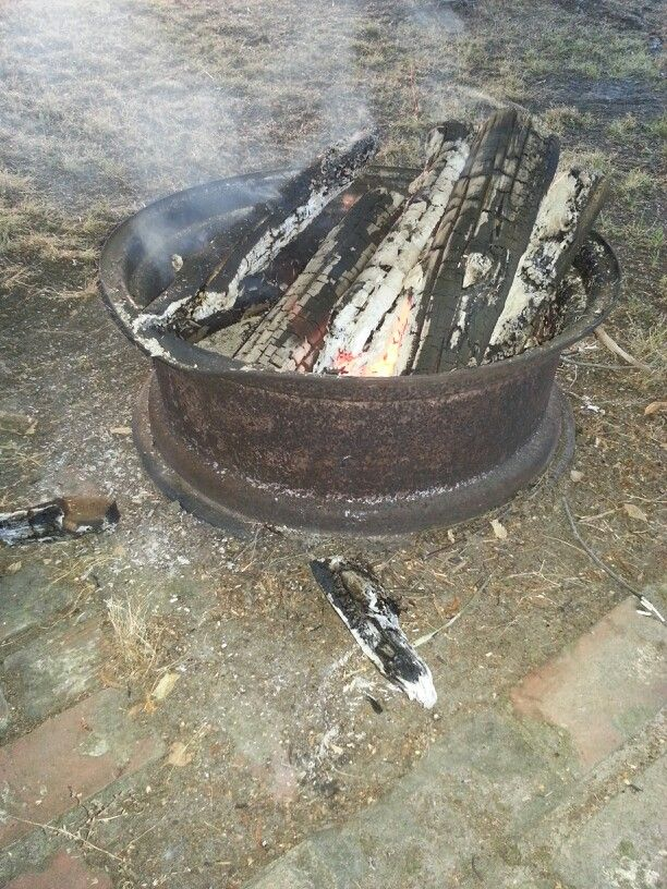 Old Tractor Tire Rim For A Fire Pit Rustic Rim Fire