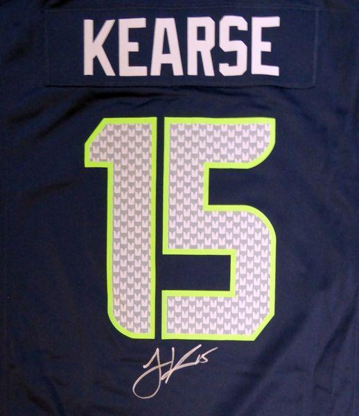 7c32160aa Seattle Seahawks Jermaine Kearse Autographed Blue Nike Jersey Size ...