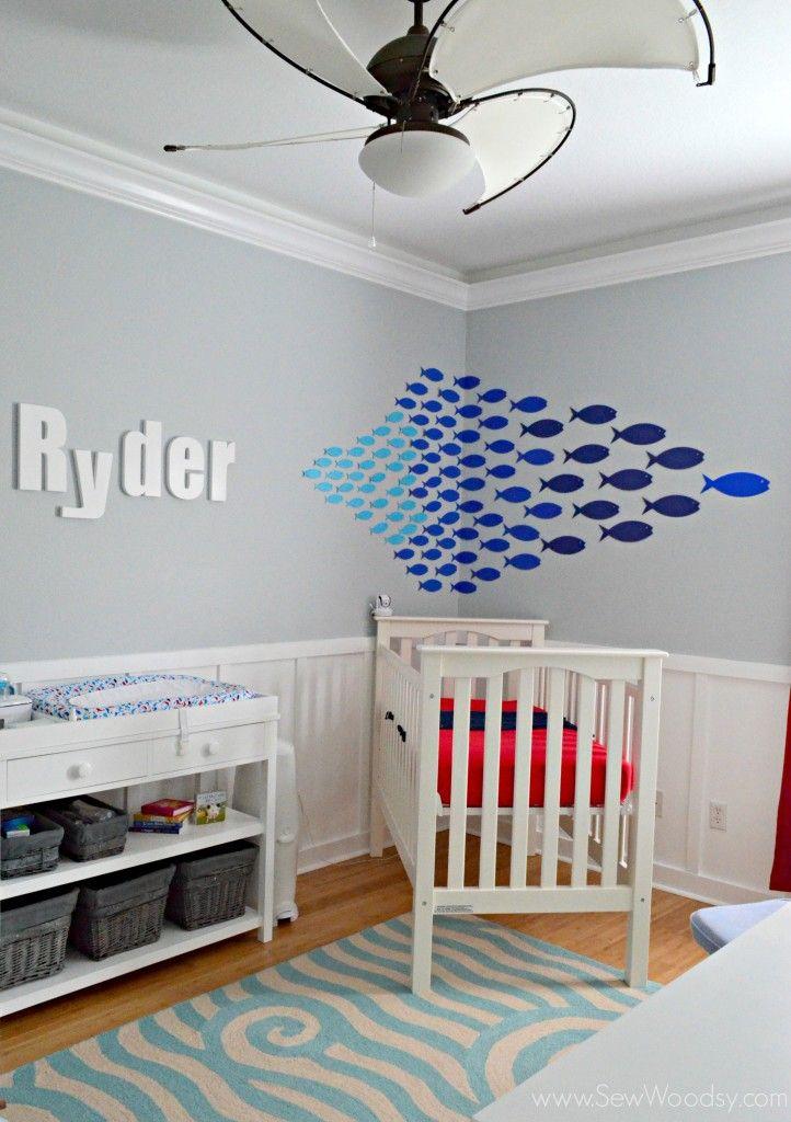 Paper Fish Nursery Decor Made With Cricut Explore Sew Woodsy Designestar Round 1