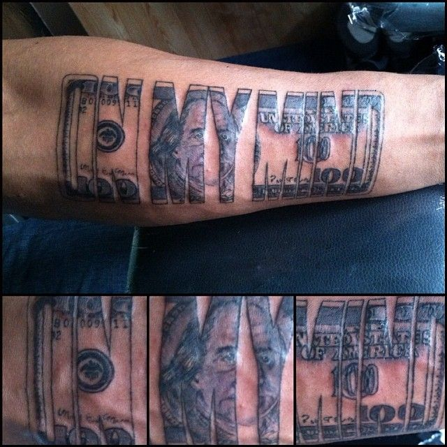 Pictures Of Money in my mind Tattoos | Money tattoos ...