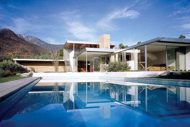 Afficher l 39 image d 39 origine c te ouest d but du 20 me pinterest maison maison moderne et - Maison plain pied deco orientale palm springs ...