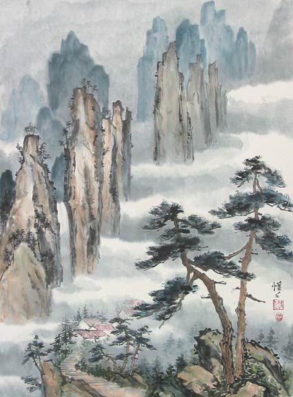 Chinese Landscape Brush Painting | Chinese brush painting ...