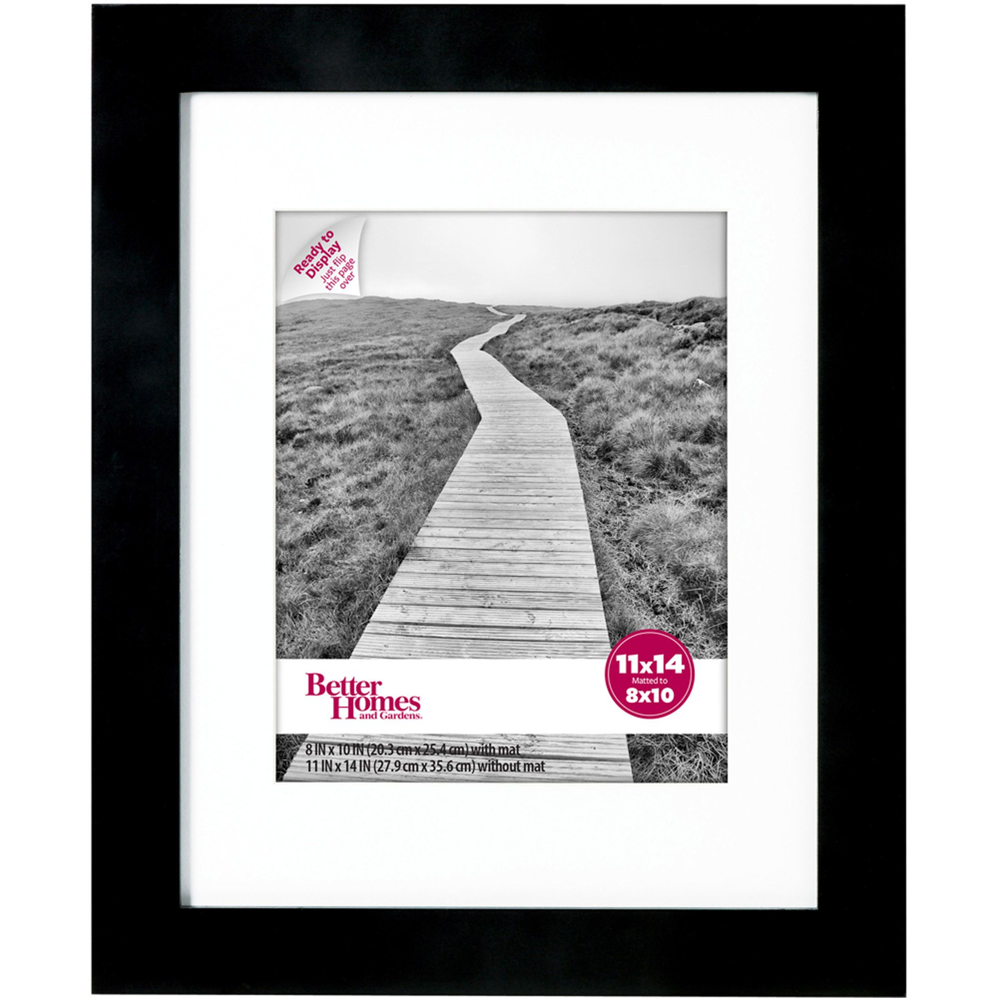 Better Homes and Gardens 11x14 Wide Black Picture Frame | For the ...