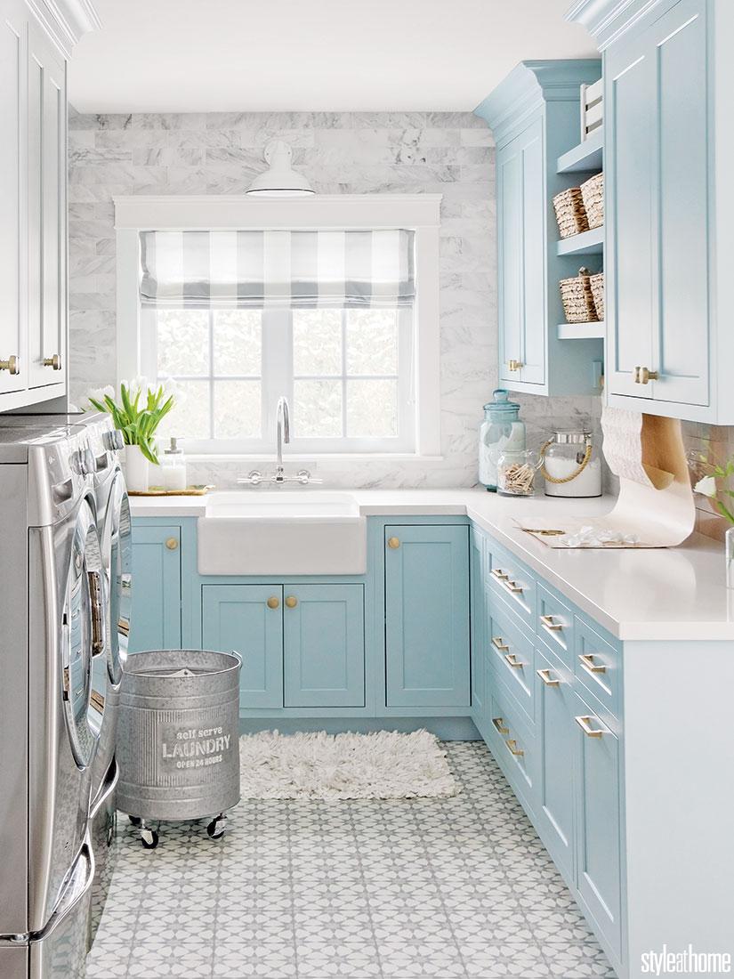 Jillian Harris's bright and cheery laundry room | Style at Home