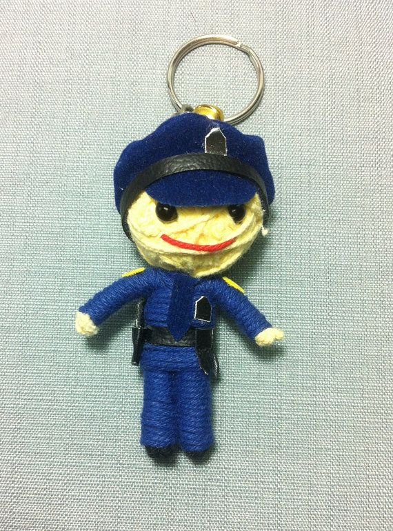 Police+Officers+String+Doll+Funny+Keyring+Keychain+by+BkkDollHouse,+฿180.00