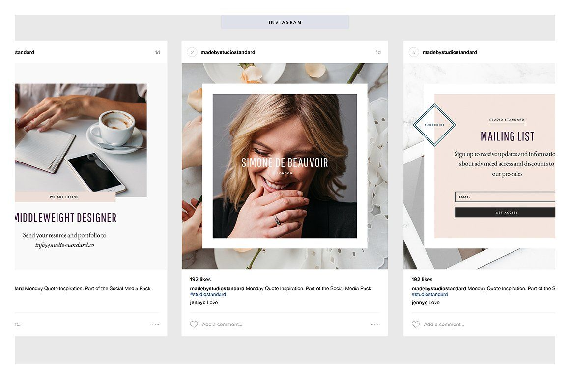 Launch Social Media Pack by Studio Standard on