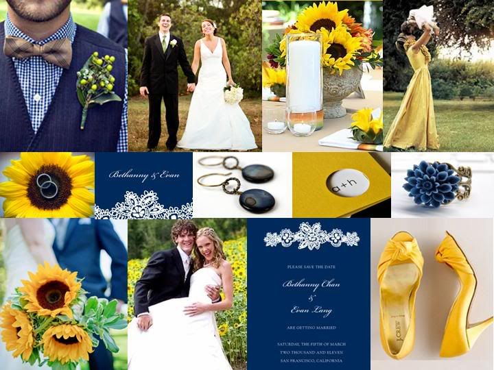 Navy And Yellow Wedding Theme Blog Colors Accents