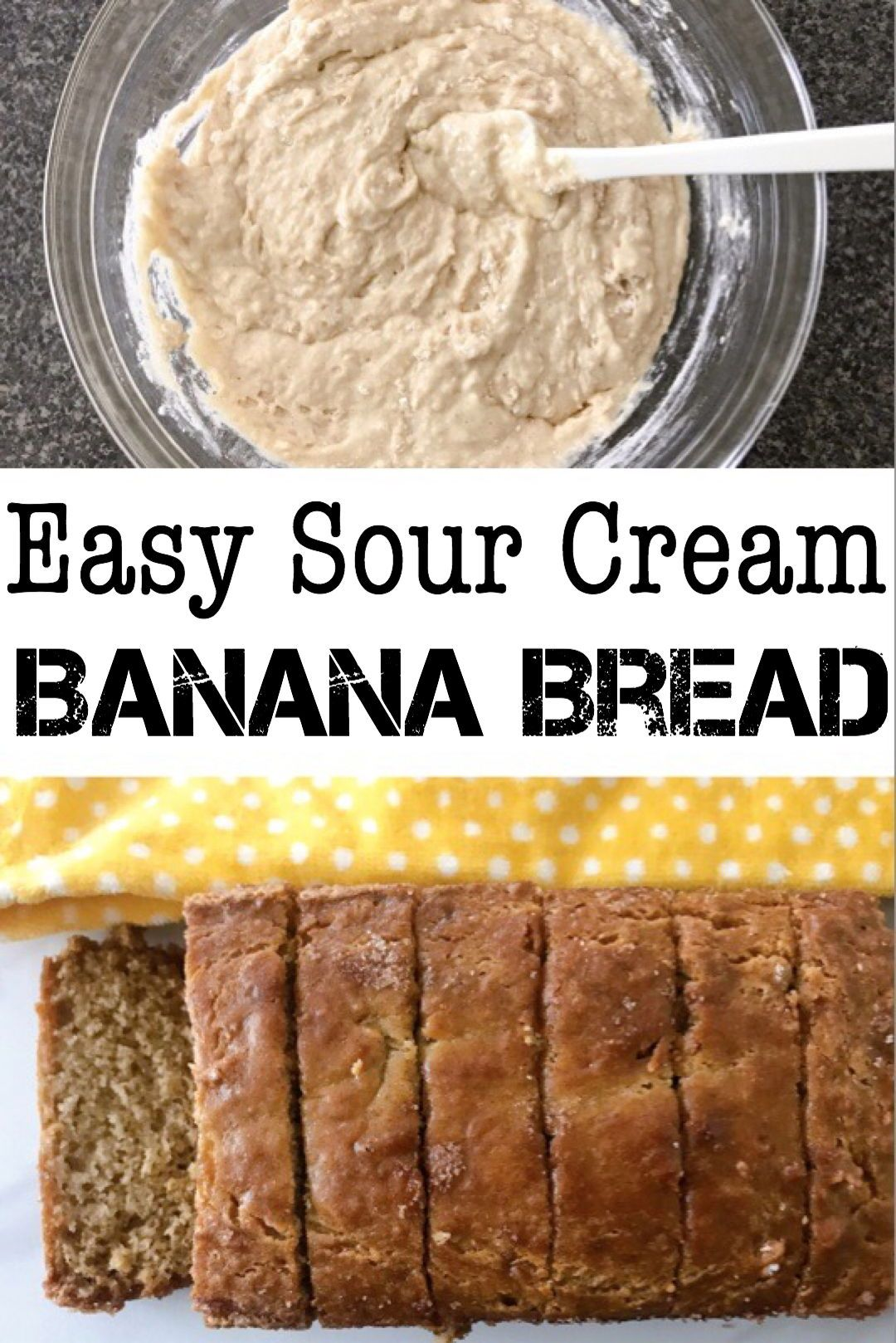 Sour Cream Banana Bread The Mommy Mouse Clubhouse Recipe In 2020 Sour Cream Banana Bread Delicious Banana Bread Recipe Sour Cream Recipes