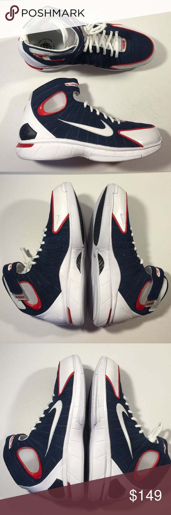 online store 665f0 723f3 Nike huarache 2k4 basketball shoes mens size 10 brand new with original box  mens size 10 olympic colorway Shoes Athletic Shoes