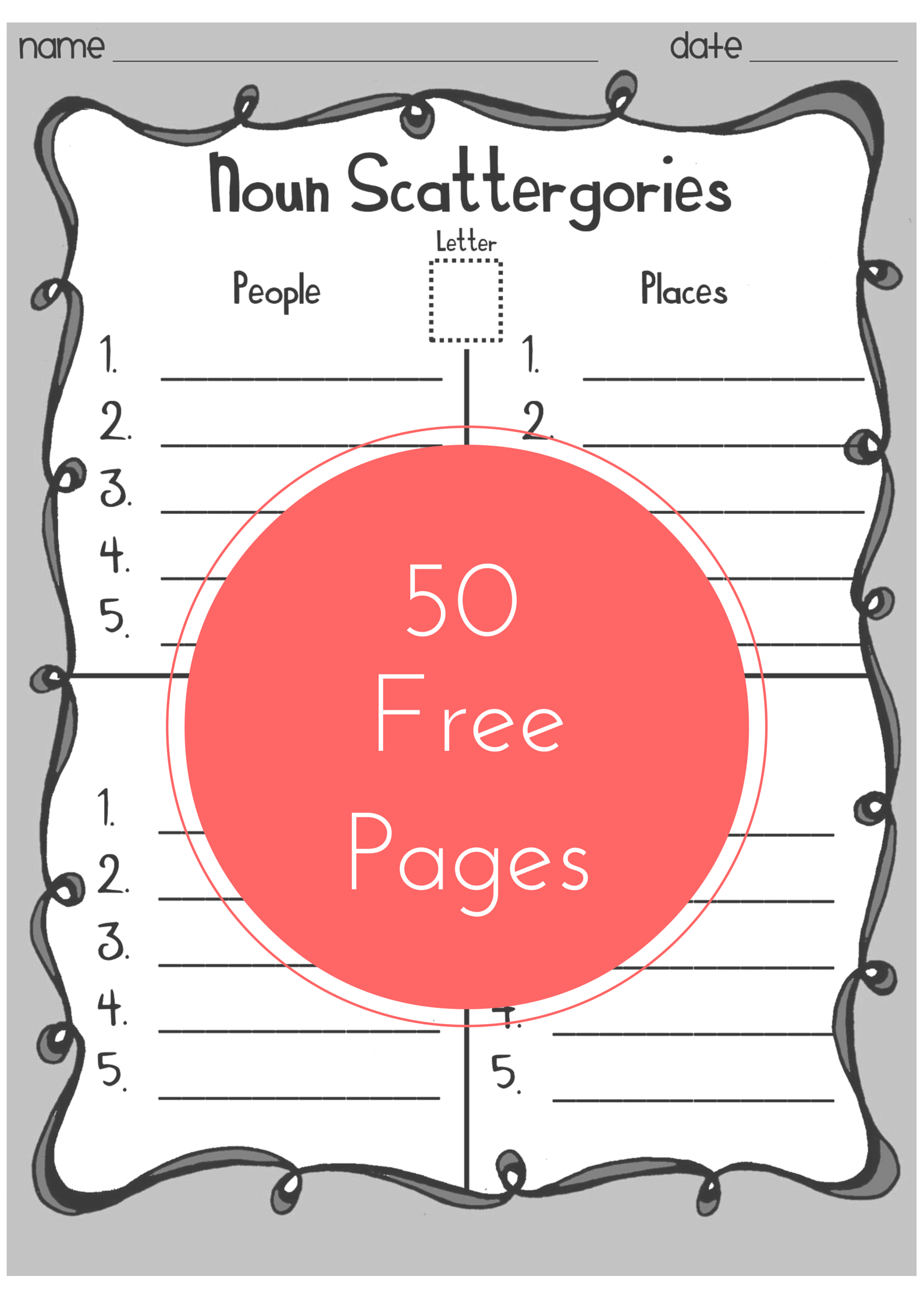 Scattergories Creative Word Work Game For Kids