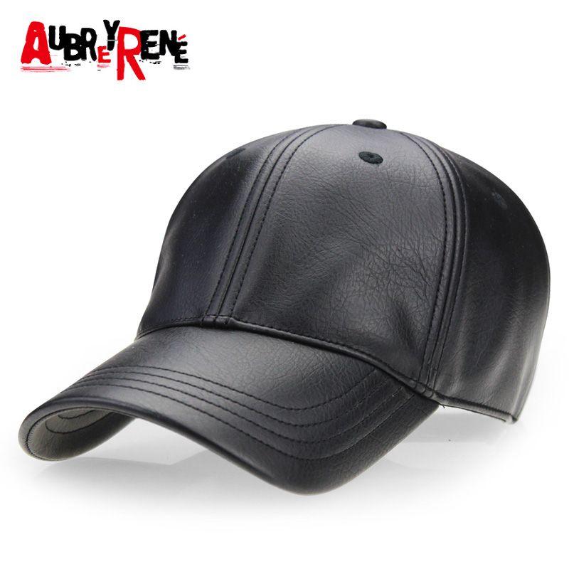 AUBREYRENE  2017 New Winter PU Leather Baseball Cap Men Classic Hats for  Man bone masculino Z-2658   Price   16.70  tech 065329a7e6da