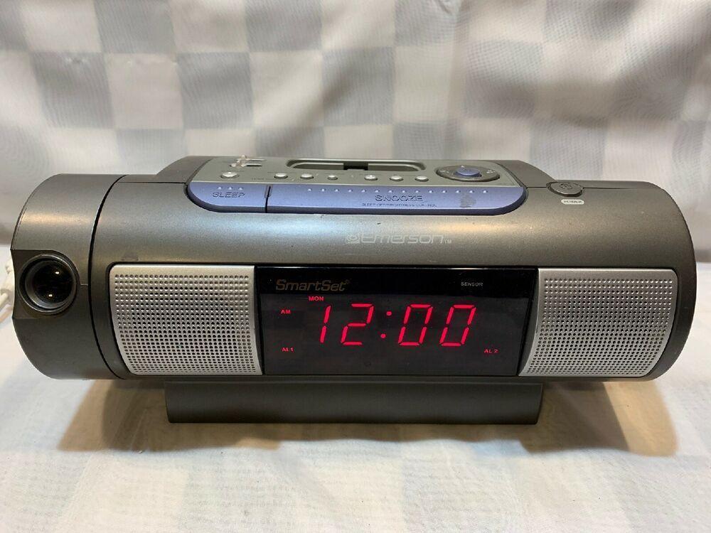 Details about EMERSON Smart Set Dual Alarm Clock Projector ...