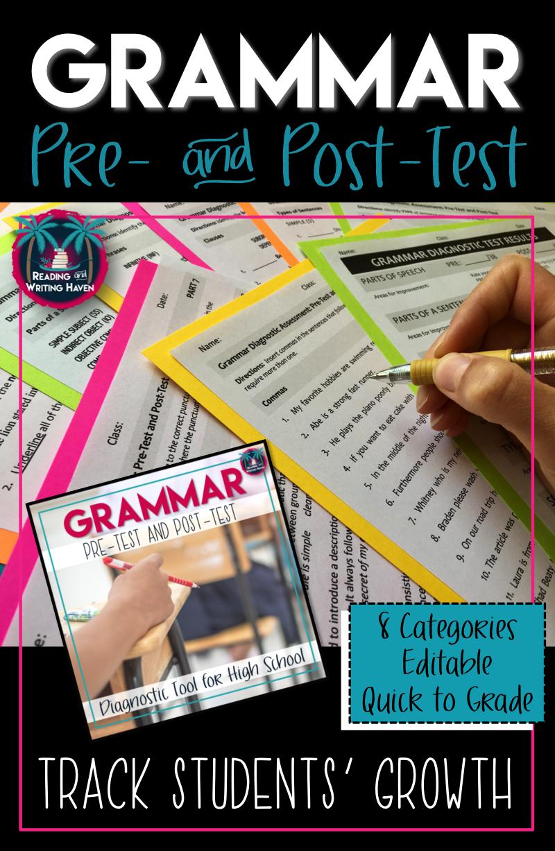 grammar and mechanics diagnostic test
