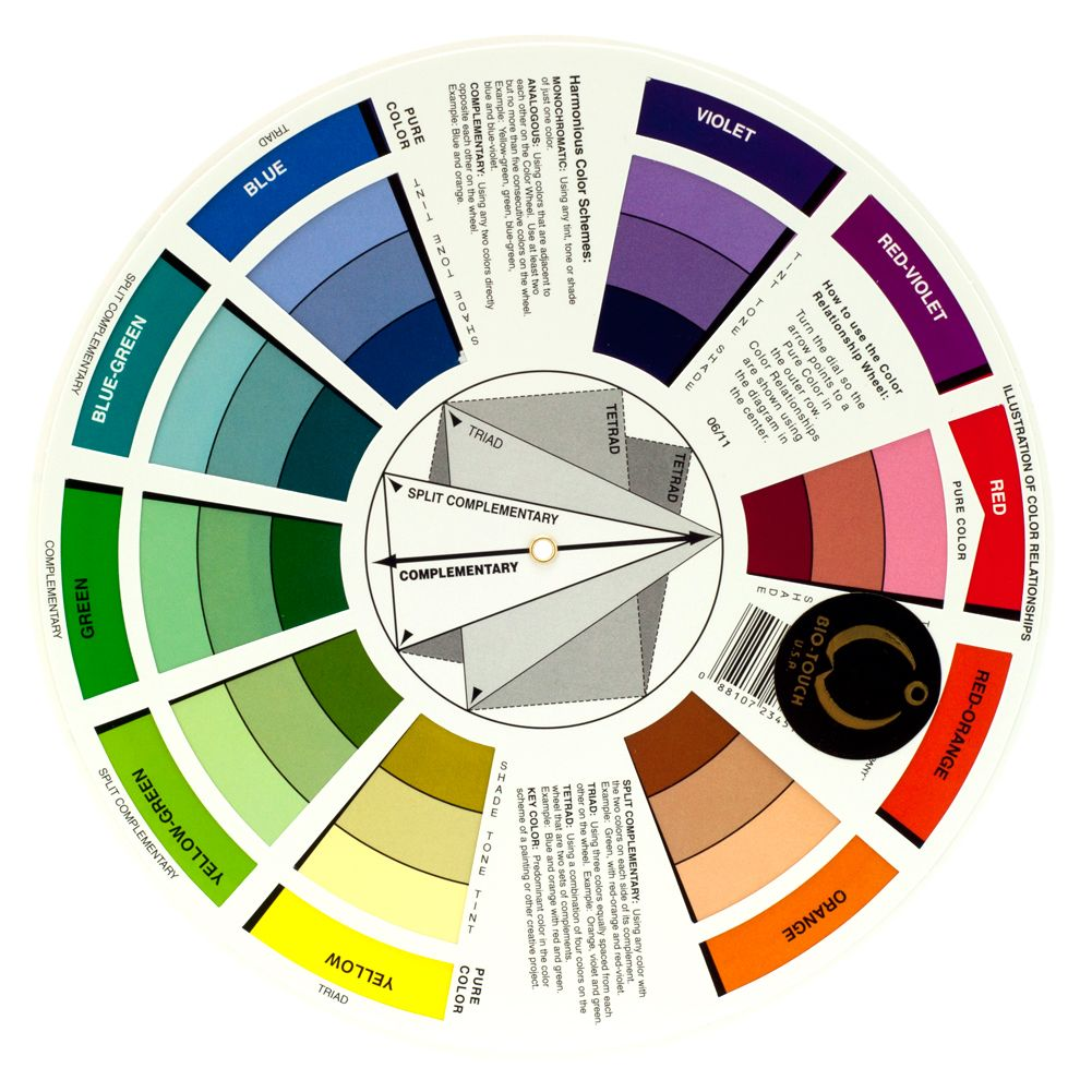 BioTouch Permanent Makeup COLOR WHEEL Accessory Tools Chart Bio