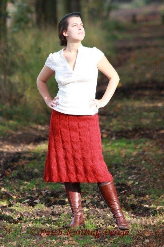 PDF knitting pattern skirt Carmine in 7 by DutchKnittingDesign, $5.50
