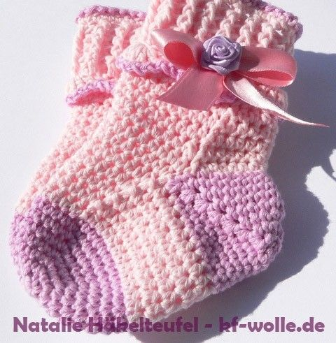 babys ckchen selber h keln diy baby socken shoes pinterest h keln socken und socken h keln. Black Bedroom Furniture Sets. Home Design Ideas