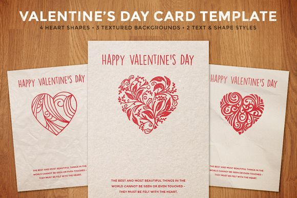 Simple Valentine S Day Card Template Valentines Day Card Templates Simple Valentine Valentines Card Design
