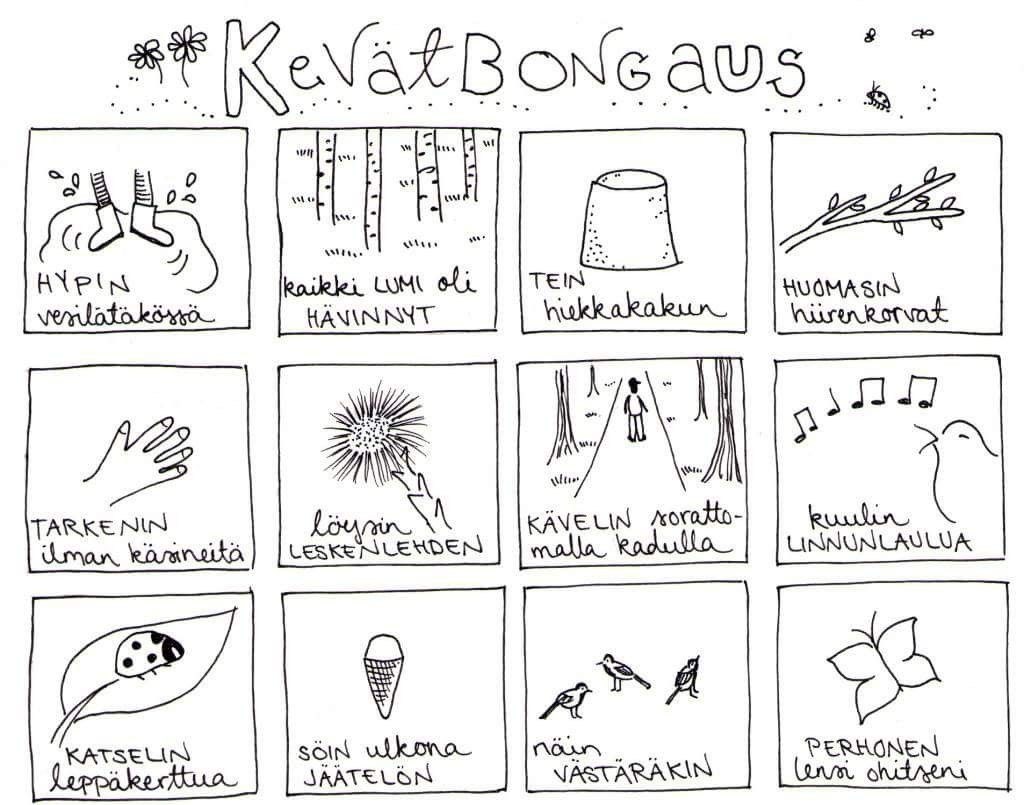 kev t bongaus lapset mets retki ymp rist kasvatusta teaching kindergarten finnish language. Black Bedroom Furniture Sets. Home Design Ideas