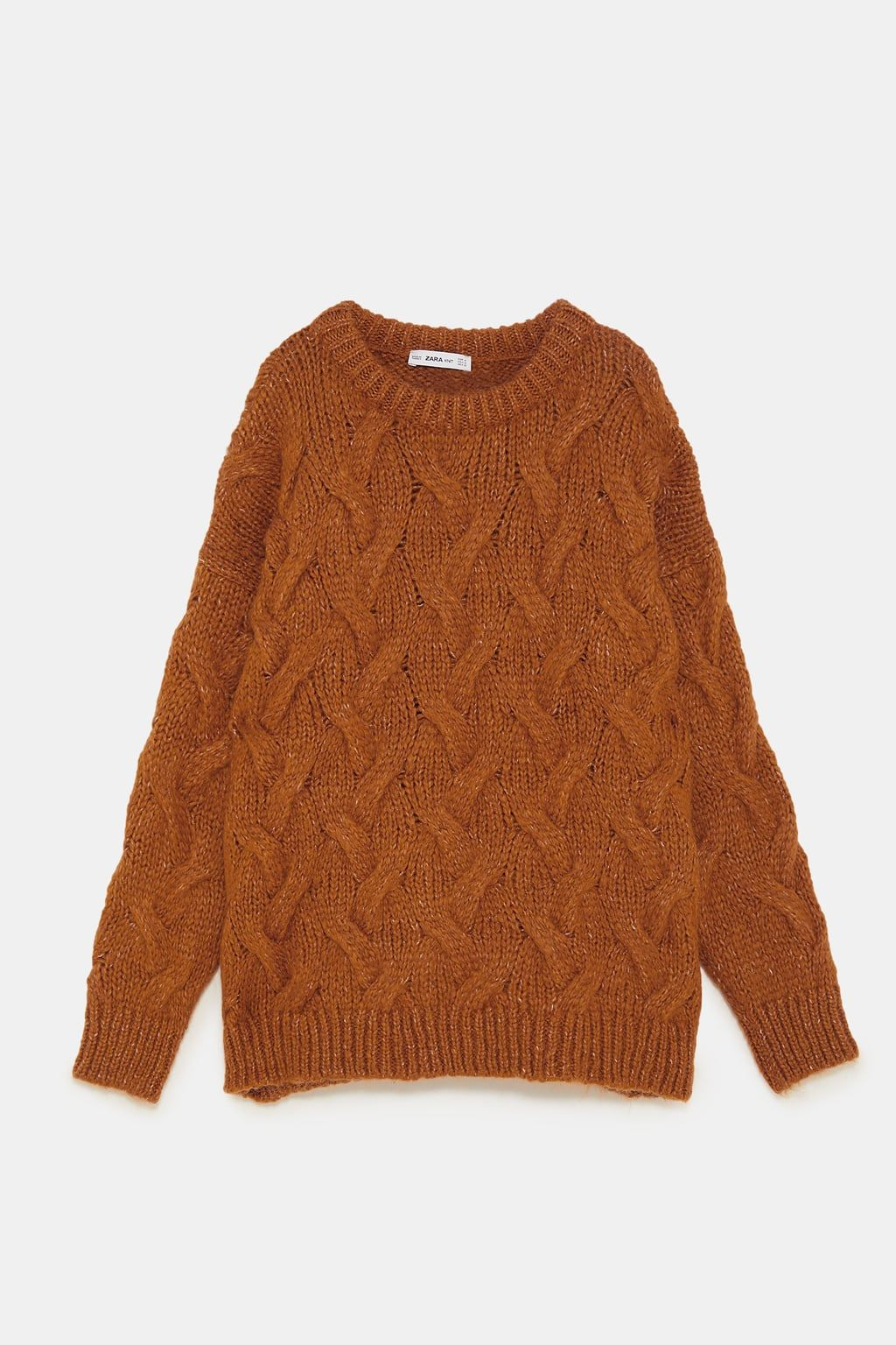 b4dac9636df6b3 Image 8 of CABLE KNIT SWEATER from Zara Fall Sweaters