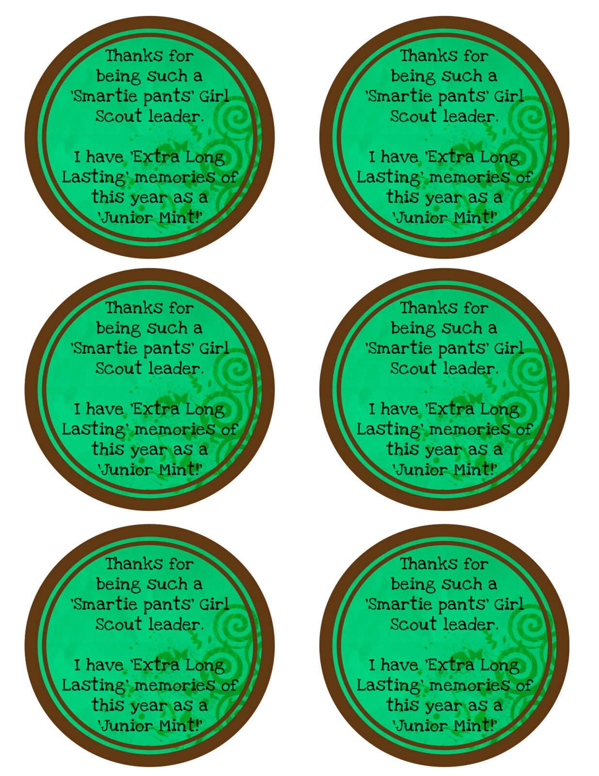 Teacher And Girl Scout Leader Ts Free Printable