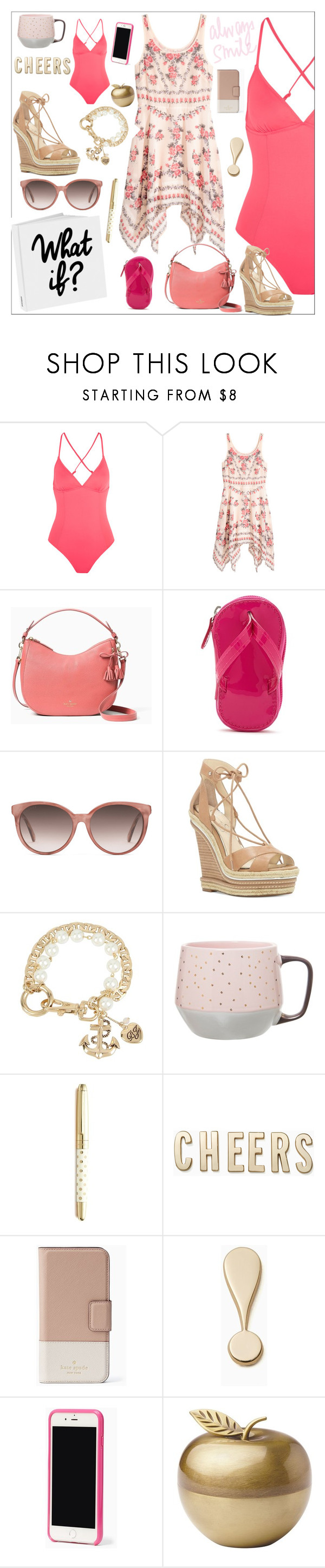 """What If"" by bitty-junkkitty ❤ liked on Polyvore featuring Eberjey, Kate Spade, Forever 21, Gucci, Jessica Simpson, Betsey Johnson and Clay Art"