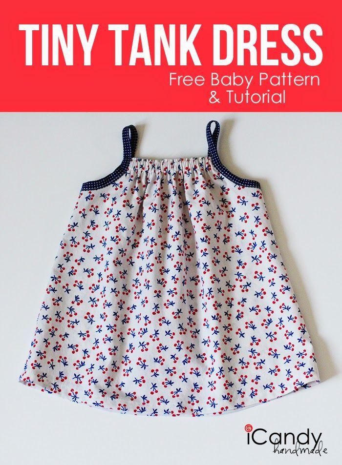 Free Pattern for Baby Tank Dress (Sew Pretty Sew Free) | Dress ...