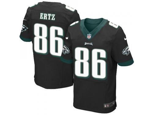 ab66d02d59c Men Nike NFL Philadelphia Eagles #86 Zach Ertz Authentic Elite Black Jersey