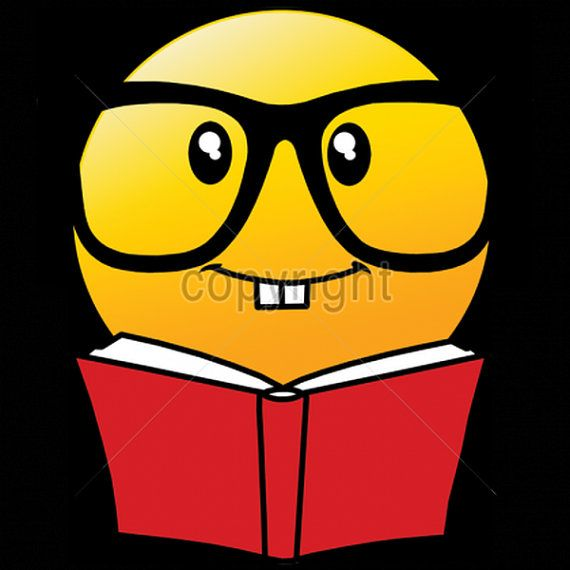 Emoji Reading Book With Glasses Womans Short By